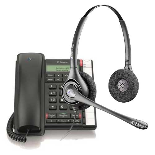 Corded Headset + Telephone Pack