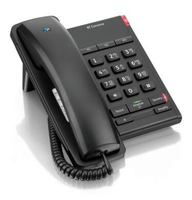 BT Converse 2100 Corded Telephone in Black