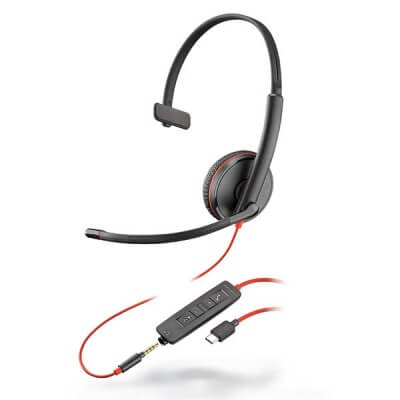 Plantronics Blackwire 3215 USB-C Headset with 3.5mm