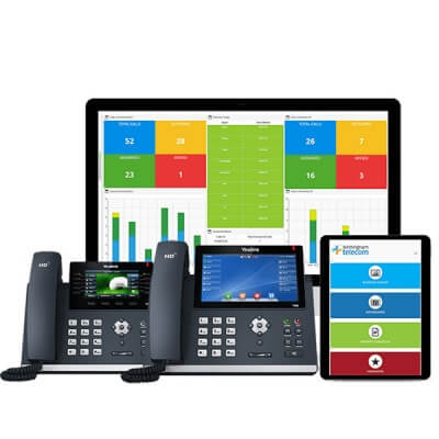 Cloud Hosted VoIP Telephone System - 2 User / 12 Month Subscription