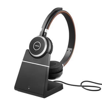 Jabra Evolve 65 MS Teams Stereo Headset with Charging Stand