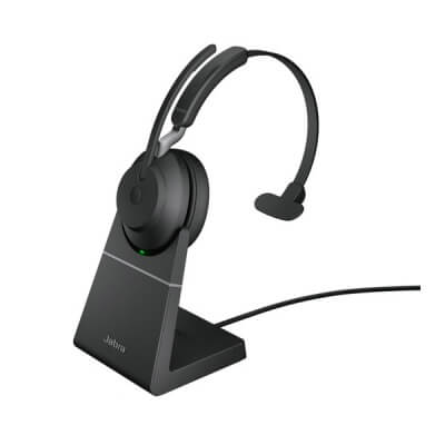Jabra Evolve2 65 MS Mono Headset with Stand