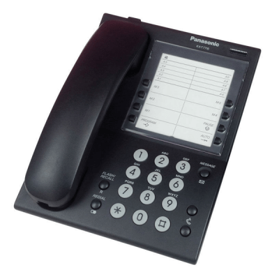Panasonic KX-T7710EB Hotel Telephone in Black