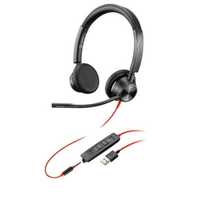 Plantronics Blackwire 3325-M USB MS Teams PC Headset with 3.5mm