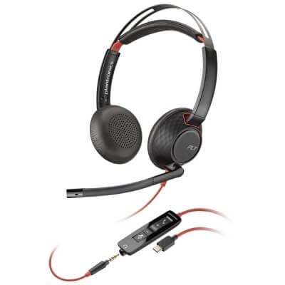Plantronics Blackwire Stereo C5220 Skype for Business Headset USB