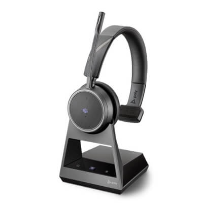Plantronics Poly Voyager 4210 Office MS Headset With 2-Way Base