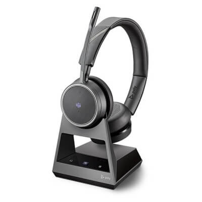 Plantronics Poly Voyager 4220 Office MS Headset With 2-Way Base
