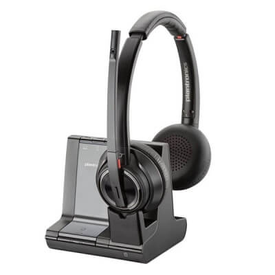 Plantronics Savi 8220 UC Cordless Headset for Hard of Hearing