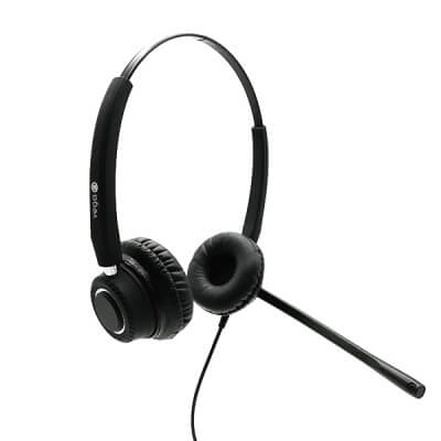 Vega Chrome Duo Binaural Noise Cancelling Office Headset