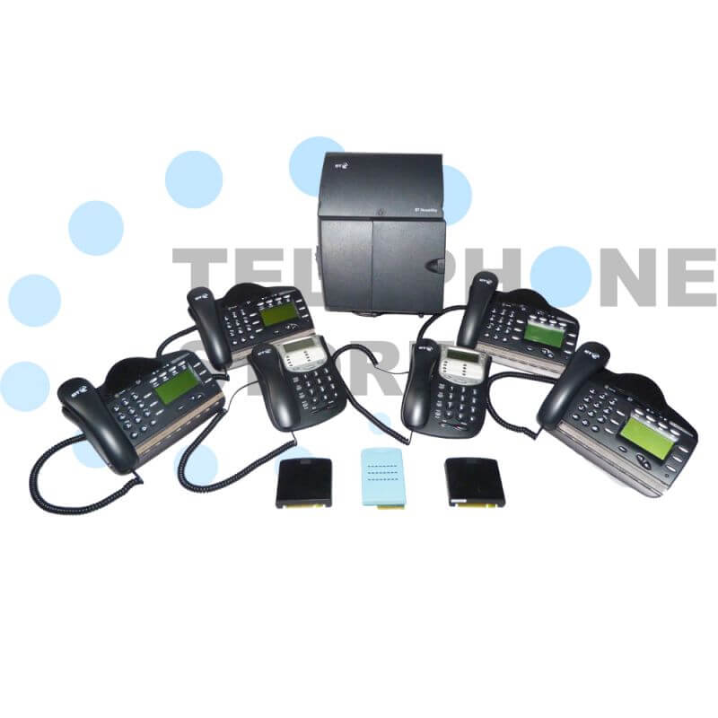 BT Versatility Phone System - 2 x Analogue Lines and 6 x Handsets