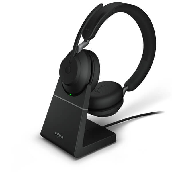 Jabra Evolve2 65 UC Stereo Headset with Charging Stand