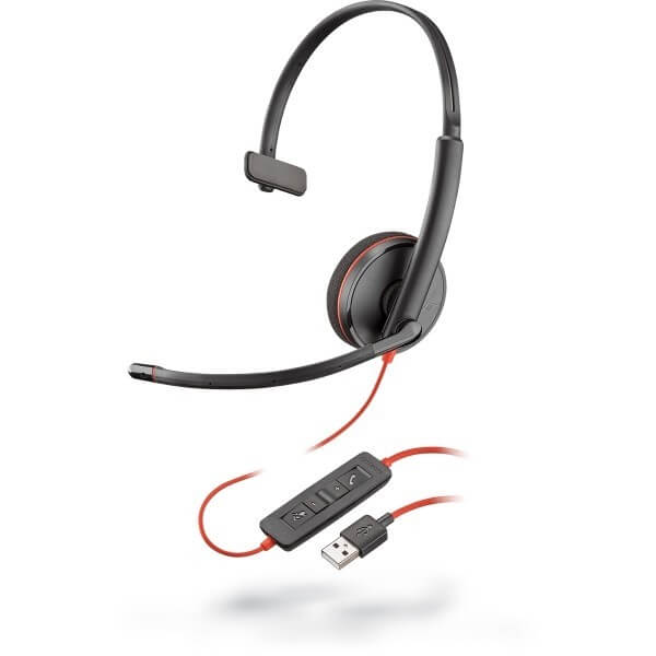 Plantronics Blackwire 3210 Corded USB Headset for Dragon Dictate