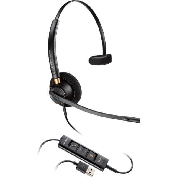 Plantronics EncorePro HW515 USB Mono Headset for Hard of Hearing