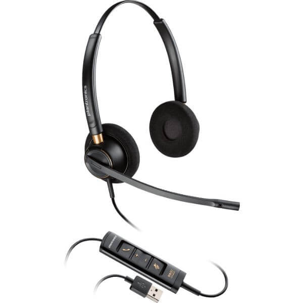 Plantronics EncorePro HW525 USB Duo PC Headset