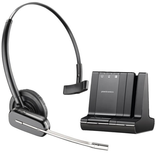 Plantronics Savi W745 Cordless USB Headset for Dragon Dictate