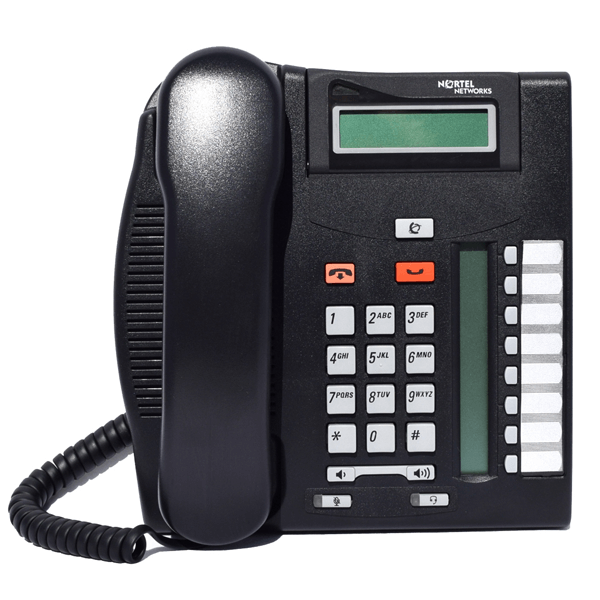 Meridian Norstar T7208 Telephone in Charcoal Black