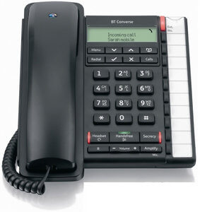 BT Converse 2300 Corded Telephone in Black
