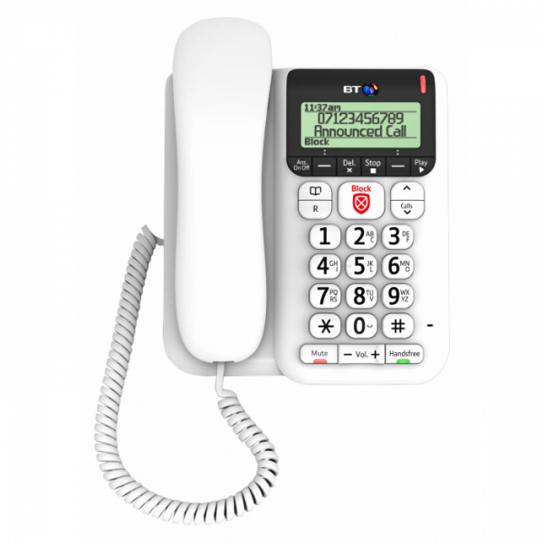 BT Decor 2600 Telephone including Answering Machine