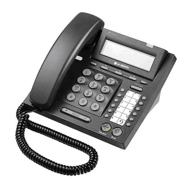 LG Nortel IP 6812 Telephone in Black