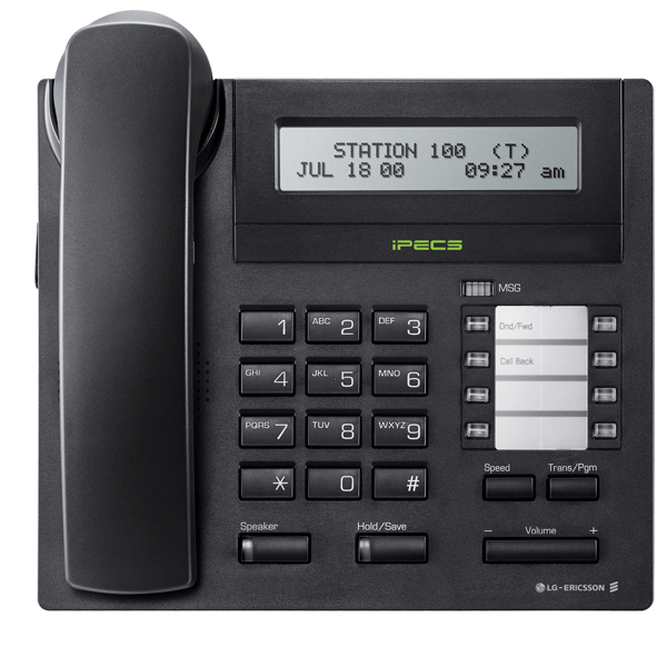 LG LDP-7008D Telephone in Black