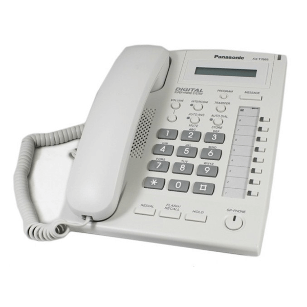 Panasonic KX-T7665 Telephone in White