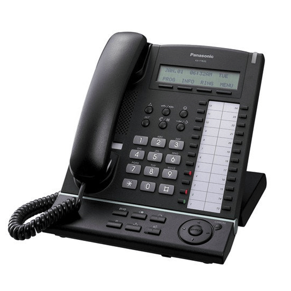 Panasonic KX-T7633B Telephone In Black