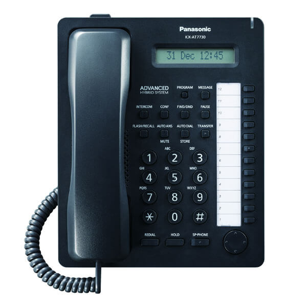 Panasonic KX-AT7730 Telephone in Black