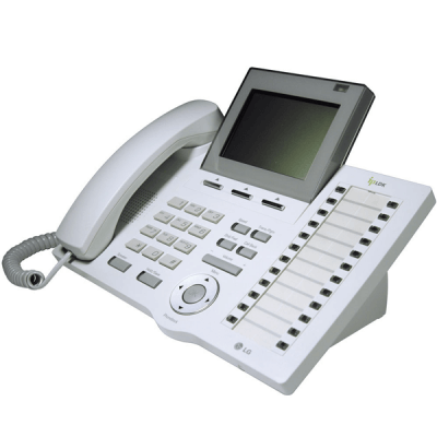 LG LDP-7024LD Telephone in White with Large LCD Display
