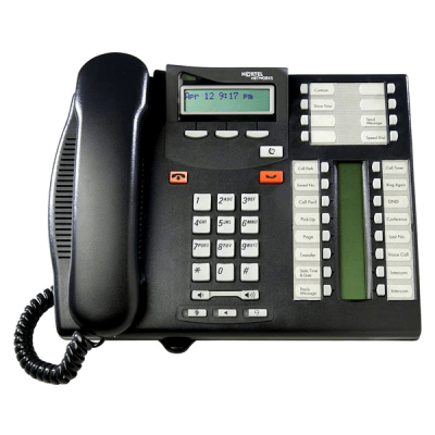 Nortel T7316e Telephone in Charcoal Black