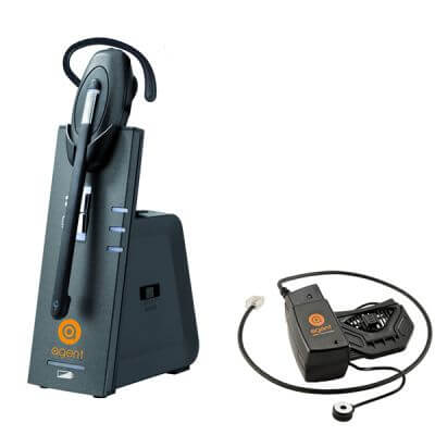 Avaya 6408D Cordless Headset with Remote Lifter